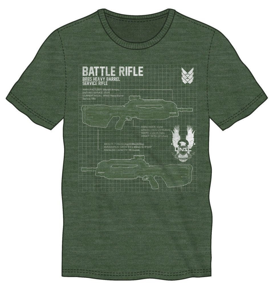 Halo 5 T-Shirt Battle Rifle Size L