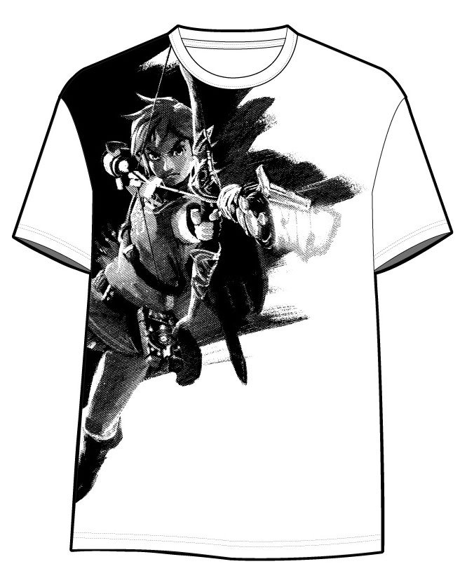 The Legend of Zelda Breath of the Wild T-Shirt Link Shooting Size XXL