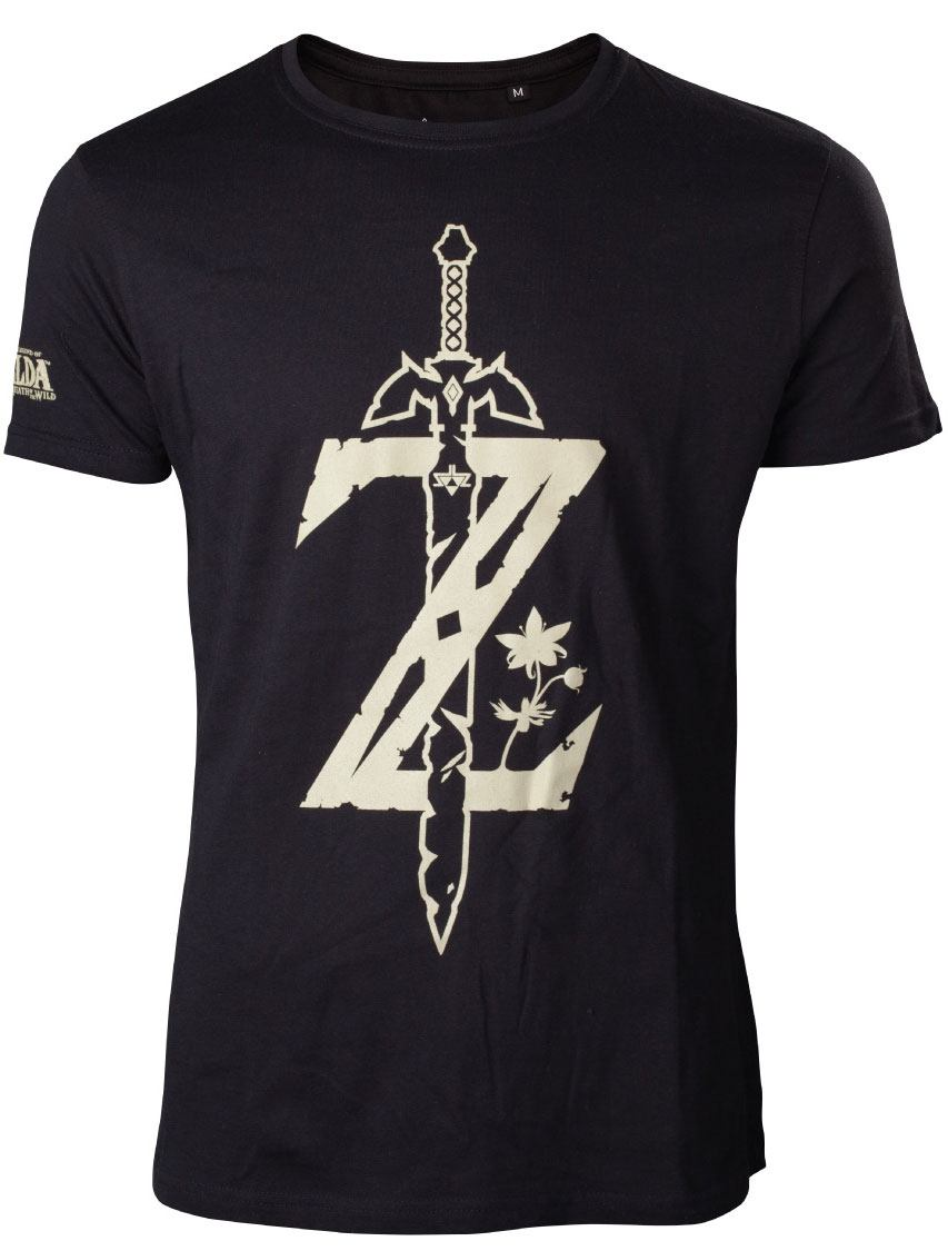 The Legend of Zelda Breath of the Wild T-Shirt Z Sword Size XL