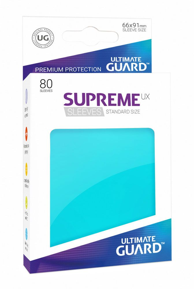 Ultimate Guard Supreme UX Sleeves Standard Size Aquamarine (80)
