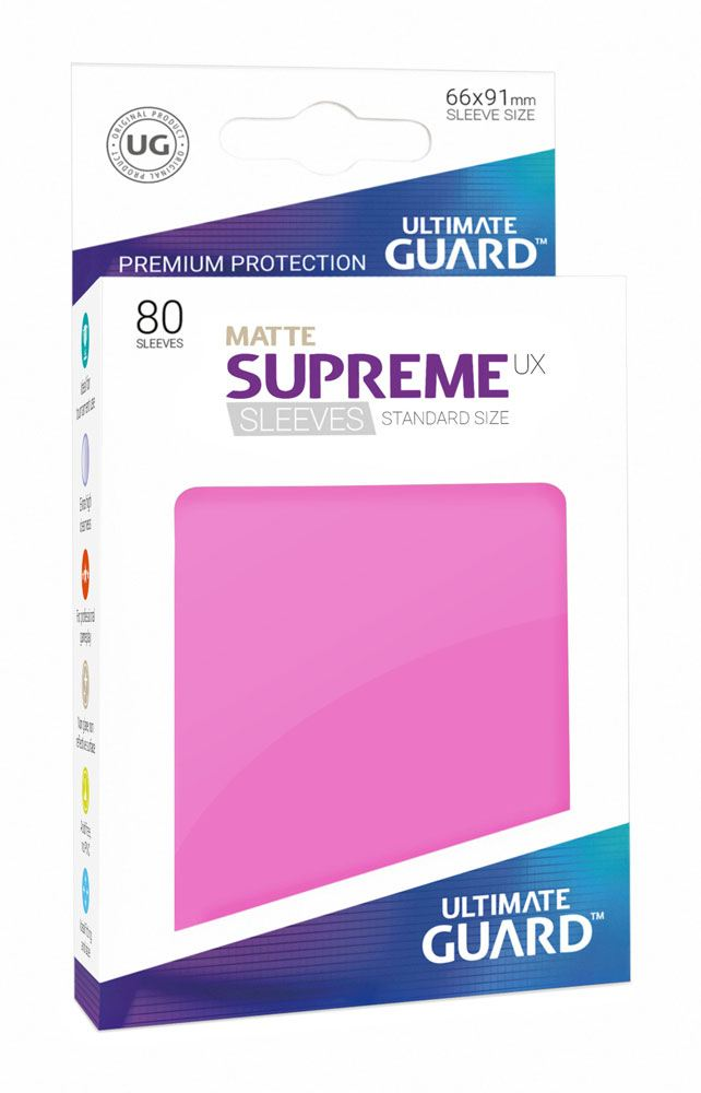 Ultimate Guard Supreme UX Sleeves Standard Size Matte Pink (80)