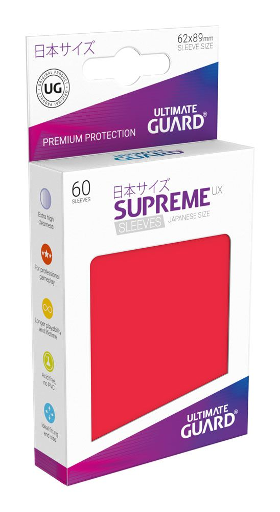 Ultimate Guard Supreme UX Sleeves Japanese Size Red (60)