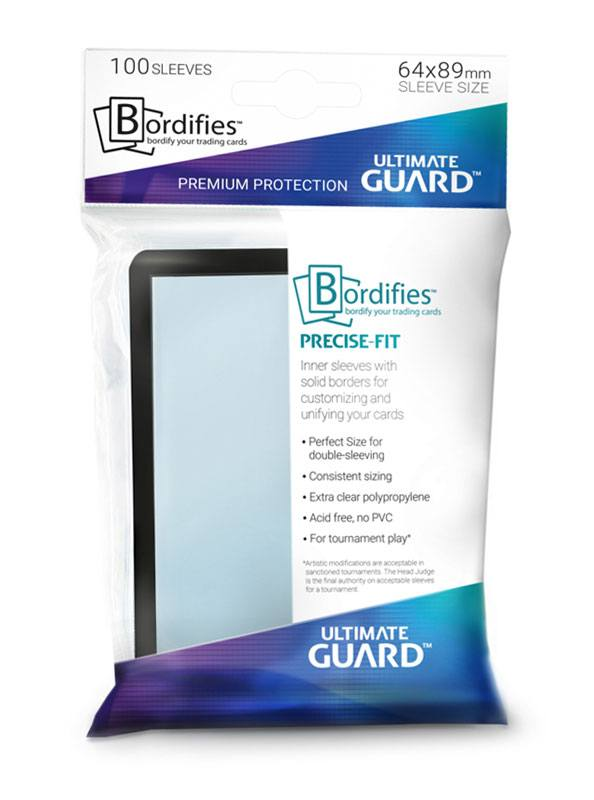 Ultimate Guard Bordifies? Precise-Fit Sleeves Standard Size Black (100)
