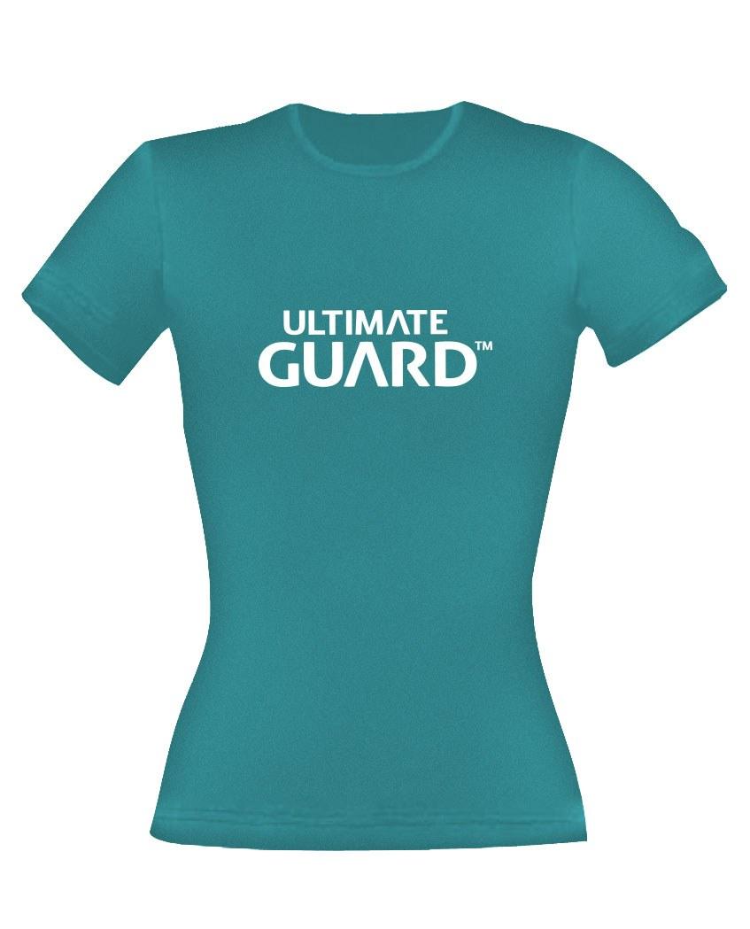 Ultimate Guard Ladies T-Shirt Wordmark Petrol Blue Size L