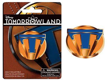 Tomorrowland Pin Badge Blue T Logo