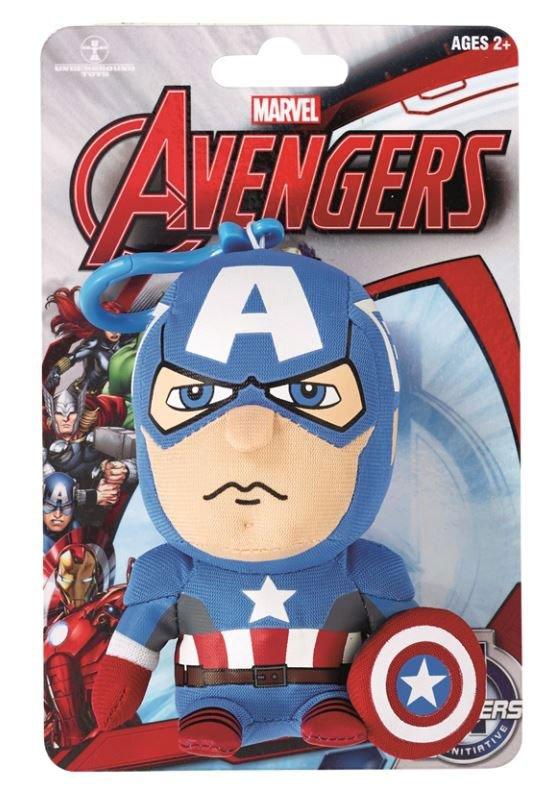 Marvel Comics Talking Plush Keychain Captain America 10 cm *English Version*
