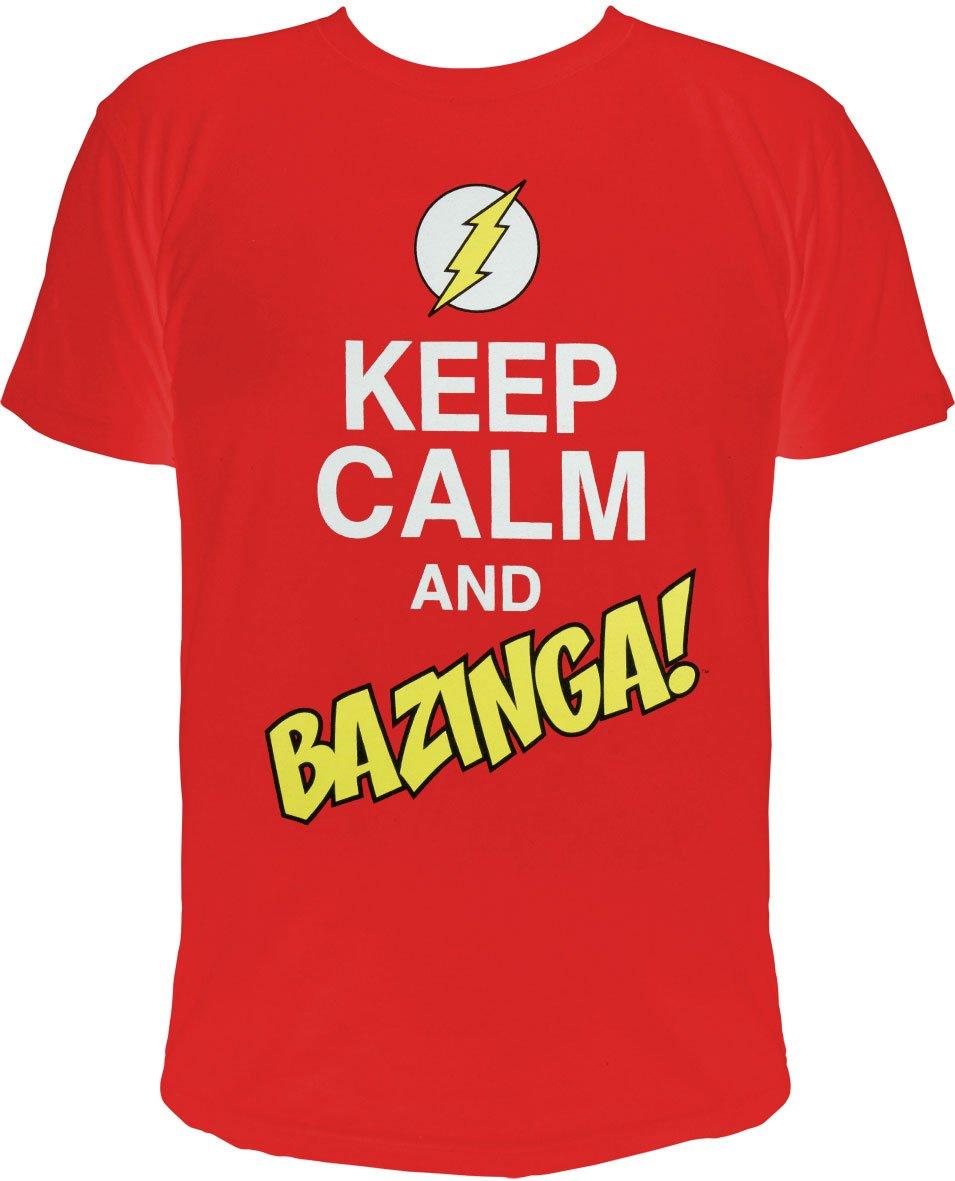 The Big Bang Theory T-Shirt Keep Calm and Bazinga  Size M