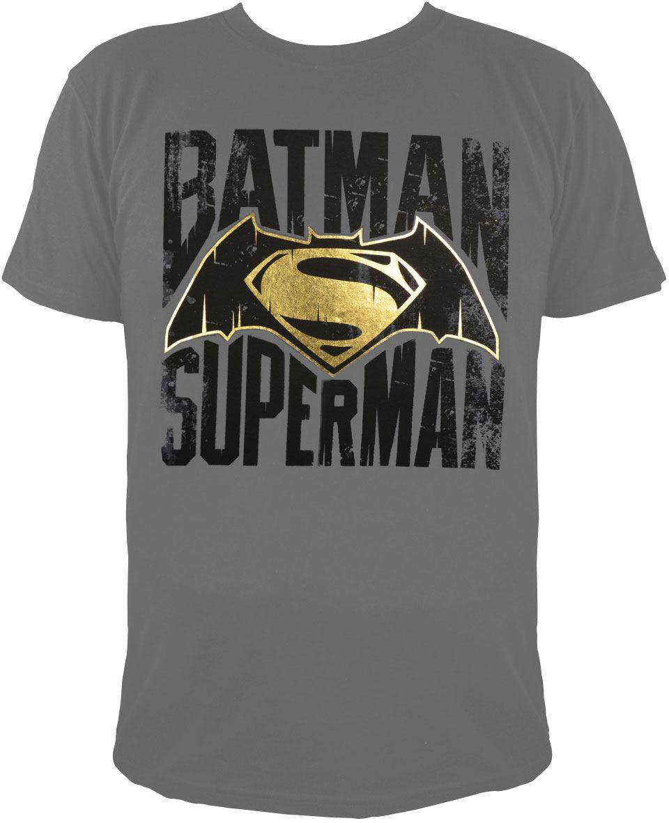 Batman v Superman T-Shirt Logo Size XXL