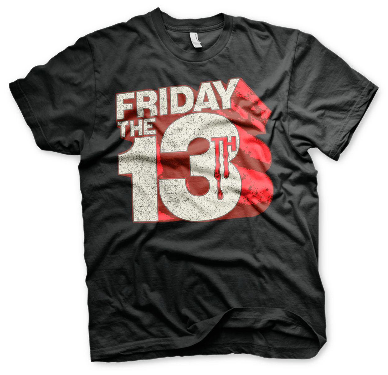 Friday the 13th T-Shirt Block Logo Size L