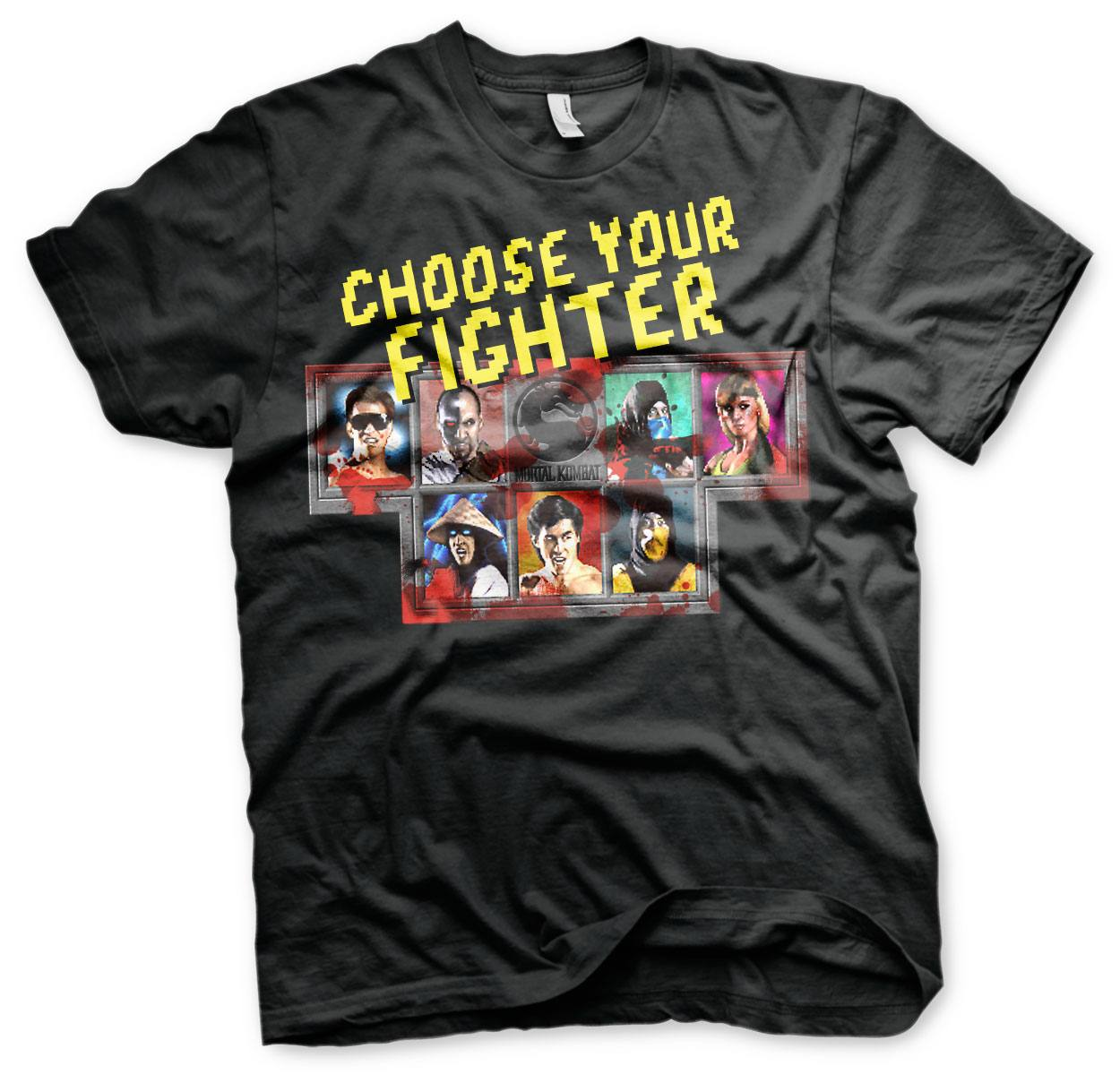 Mortal Kombat T-Shirt Choose Your Fighter Size L