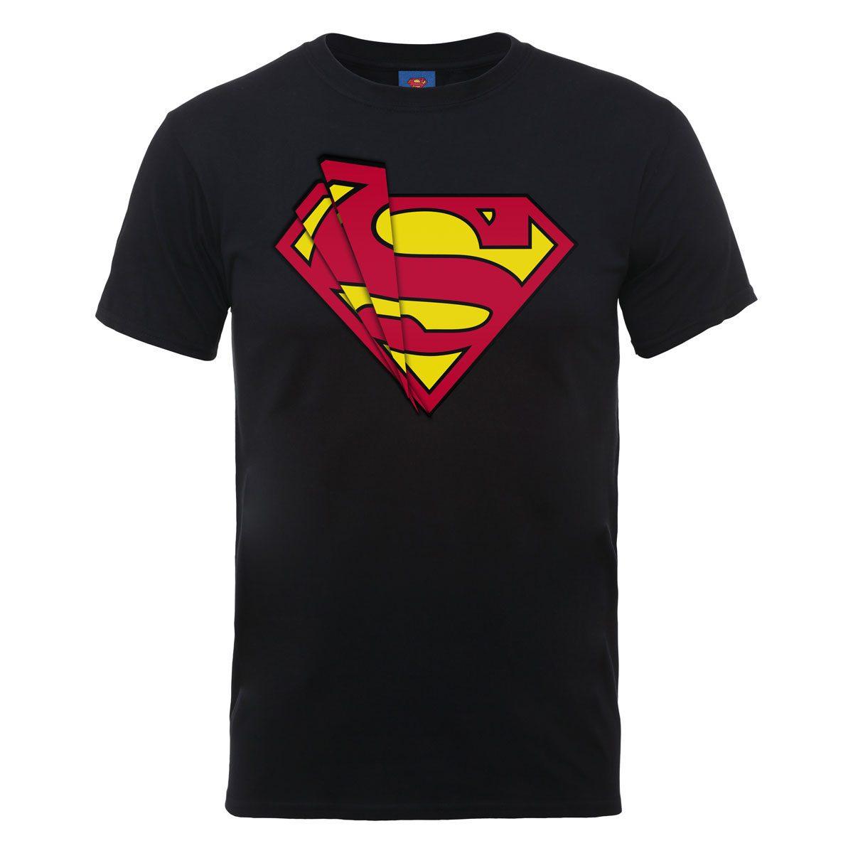 DC Comics T-Shirt Superman Glass Logo Size XL