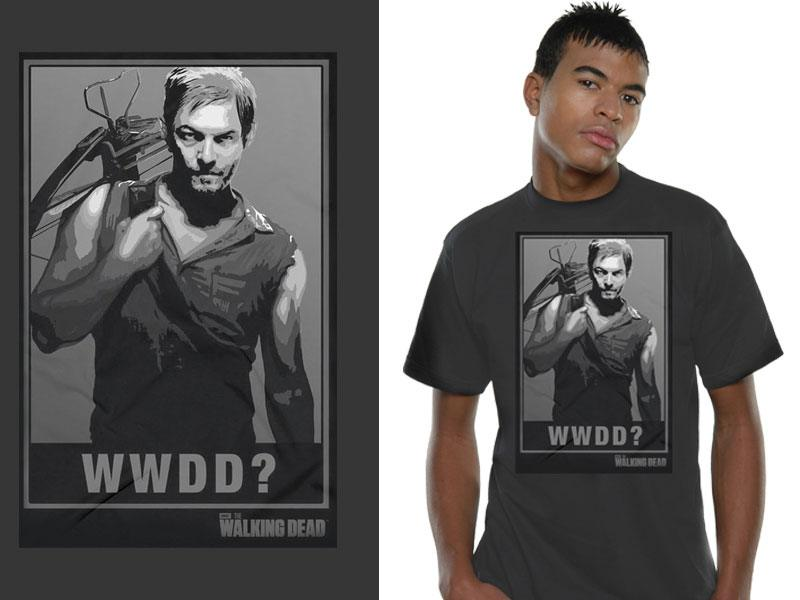 Walking Dead T-Shirt WWDD? Size M