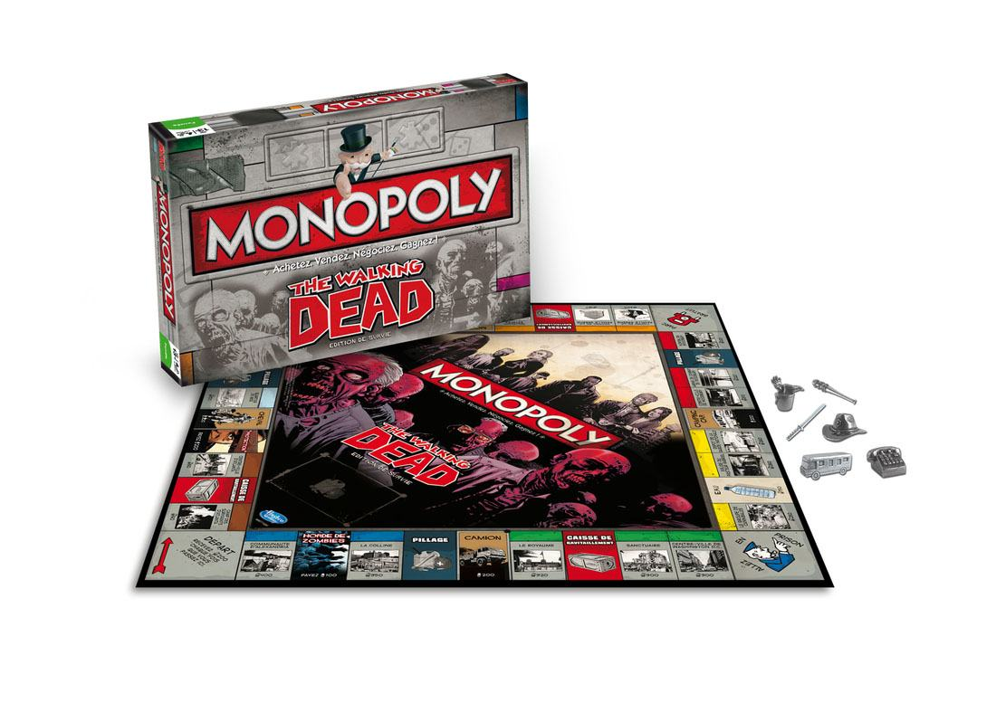 Walking Dead Board Game Monopoly *French Version*
