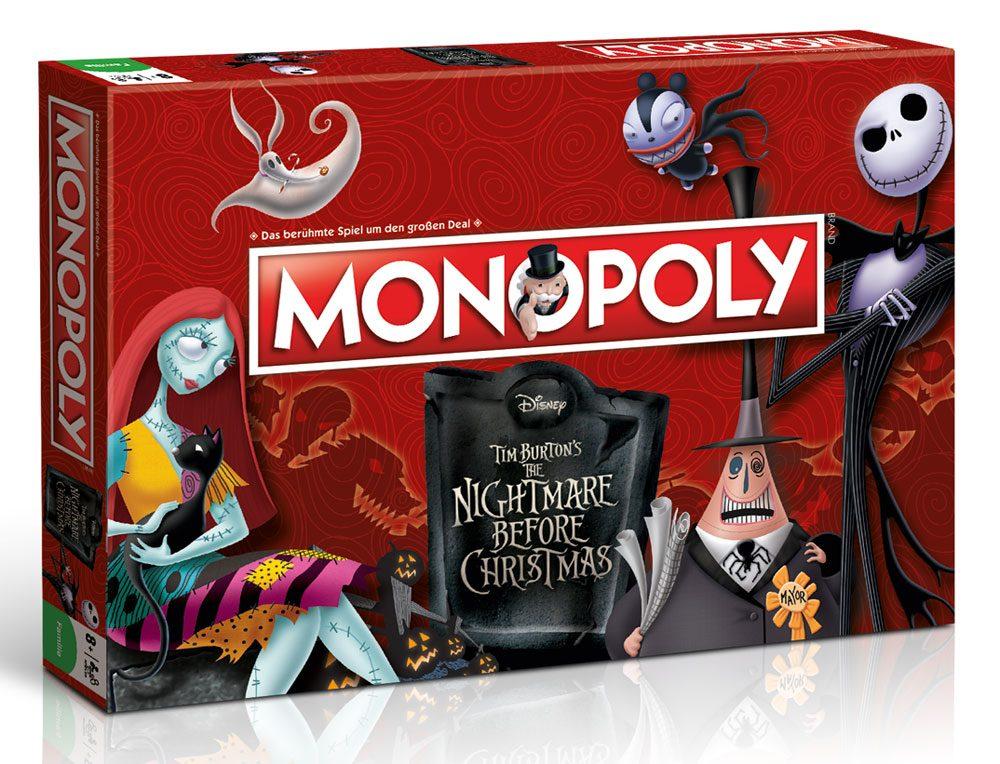 Nightmare Before Christmas Board Game Monopoly *German Version*