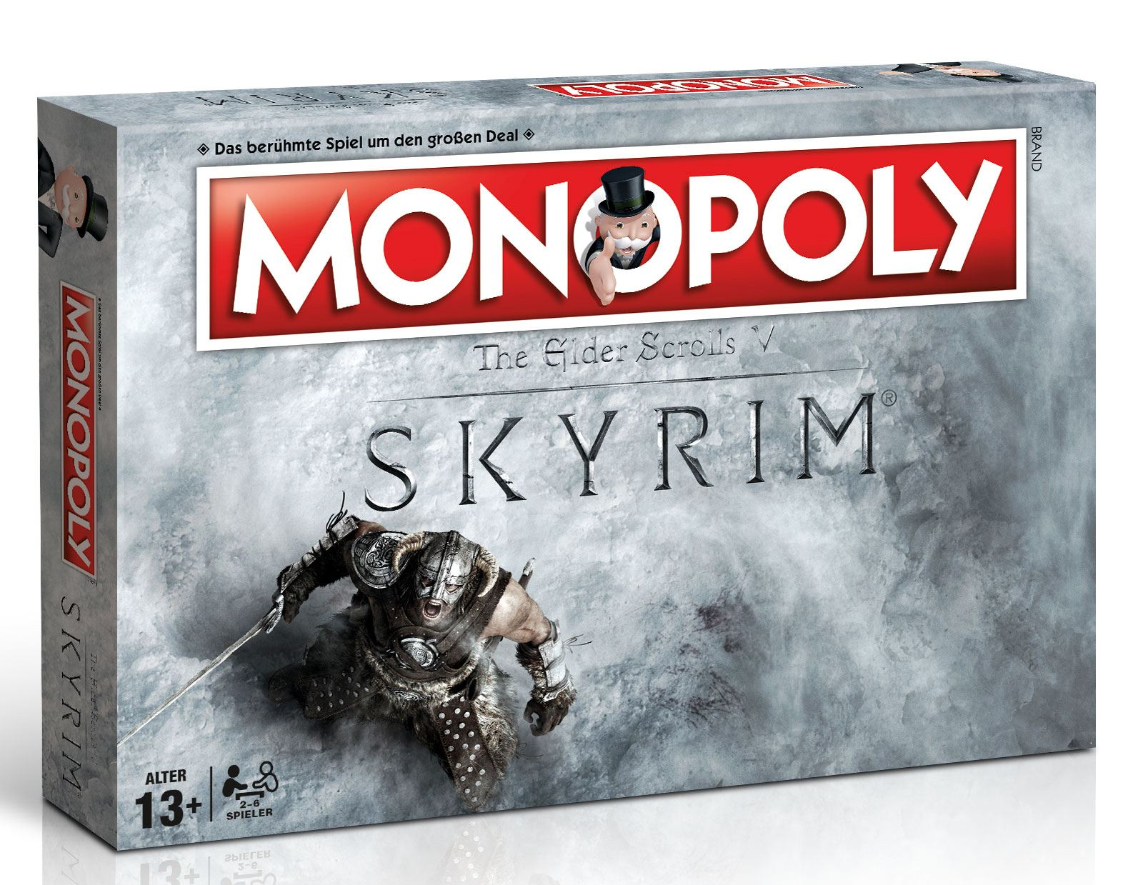 The Elder Scrolls V Skyrim Board Game Monopoly *German Version*