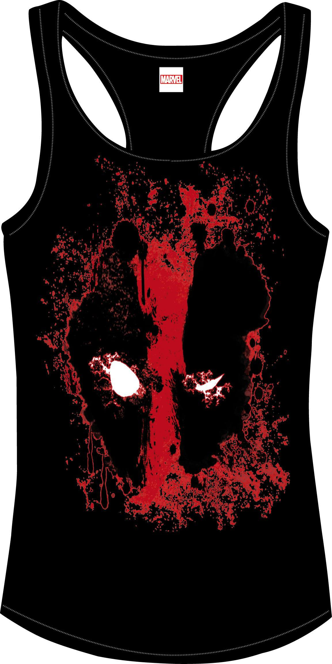 Deadpool Girlie Tank Top Bloody Eyes Size M