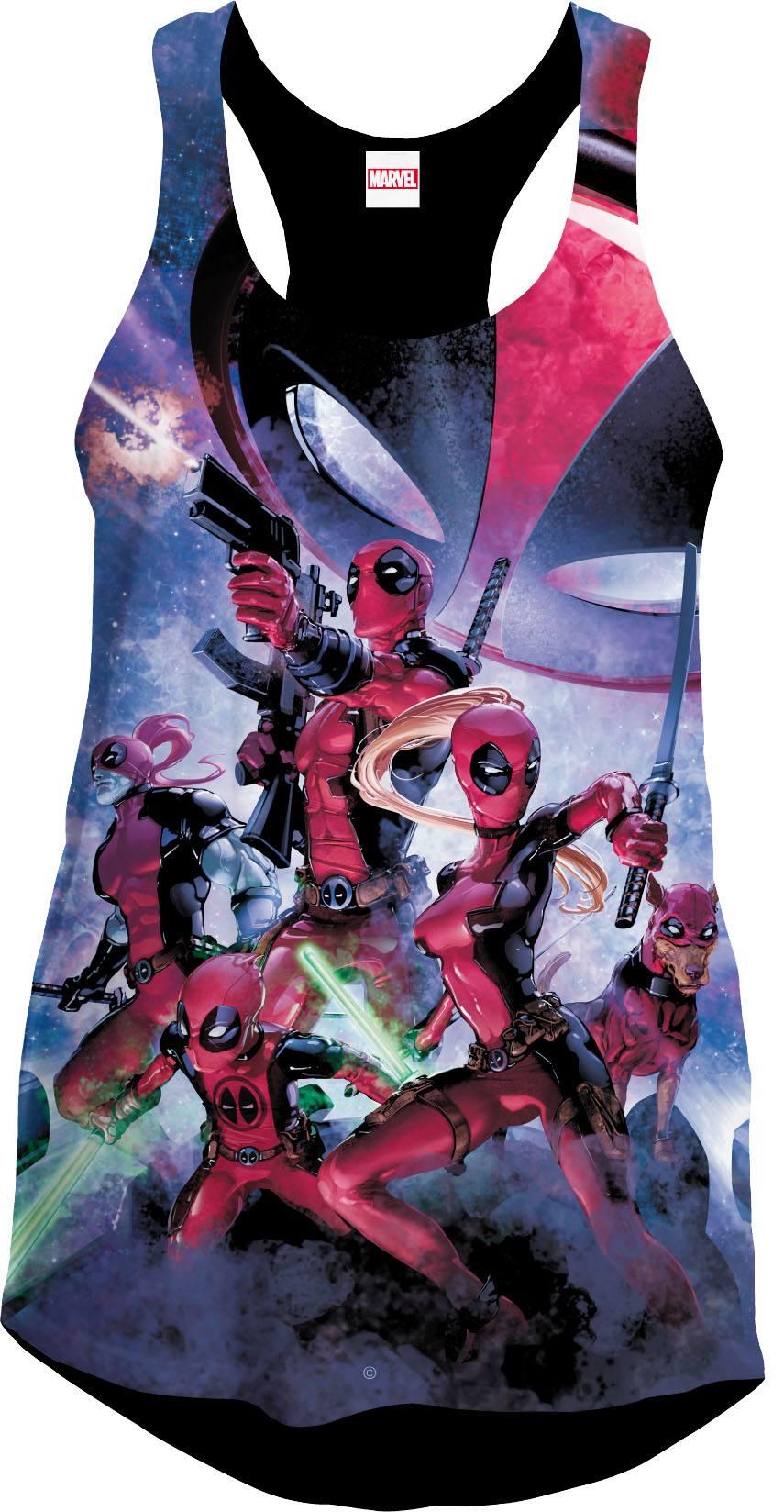 Deadpool Girlie Tank Top Art Size S