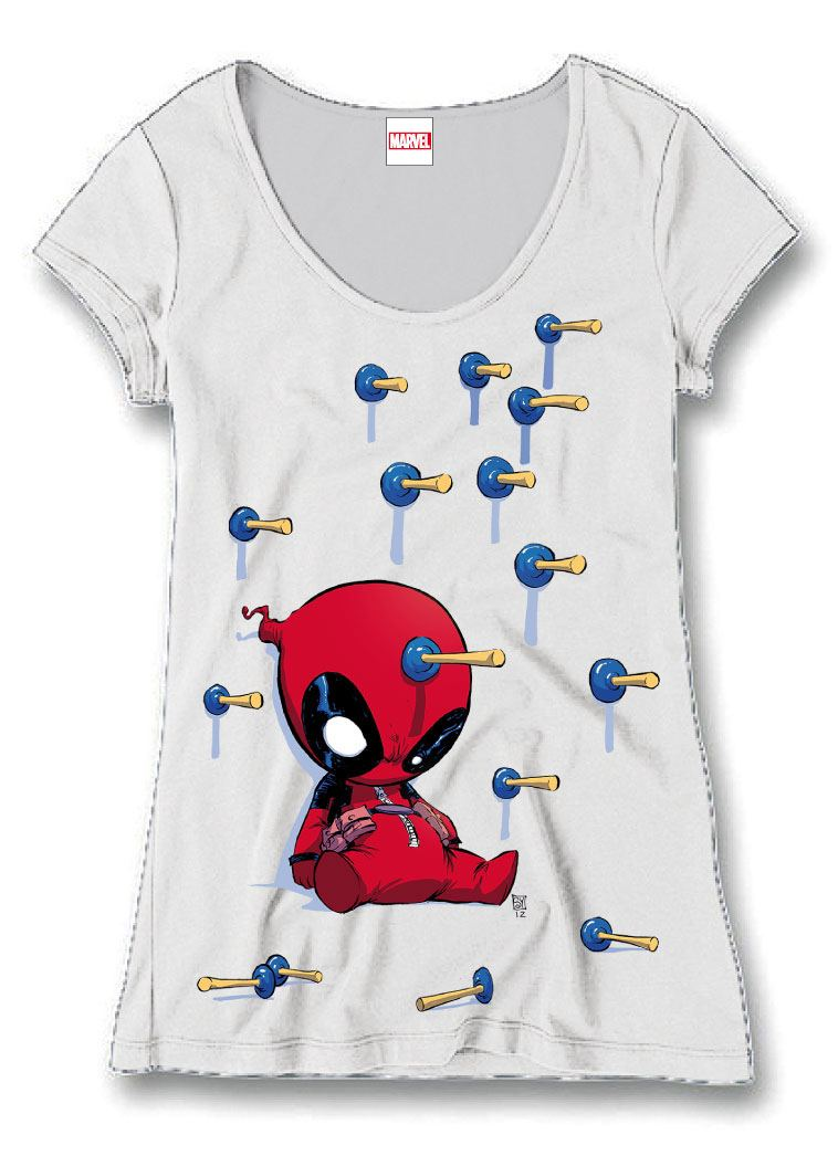 Deadpool Ladies T-Shirt Plunger Size L