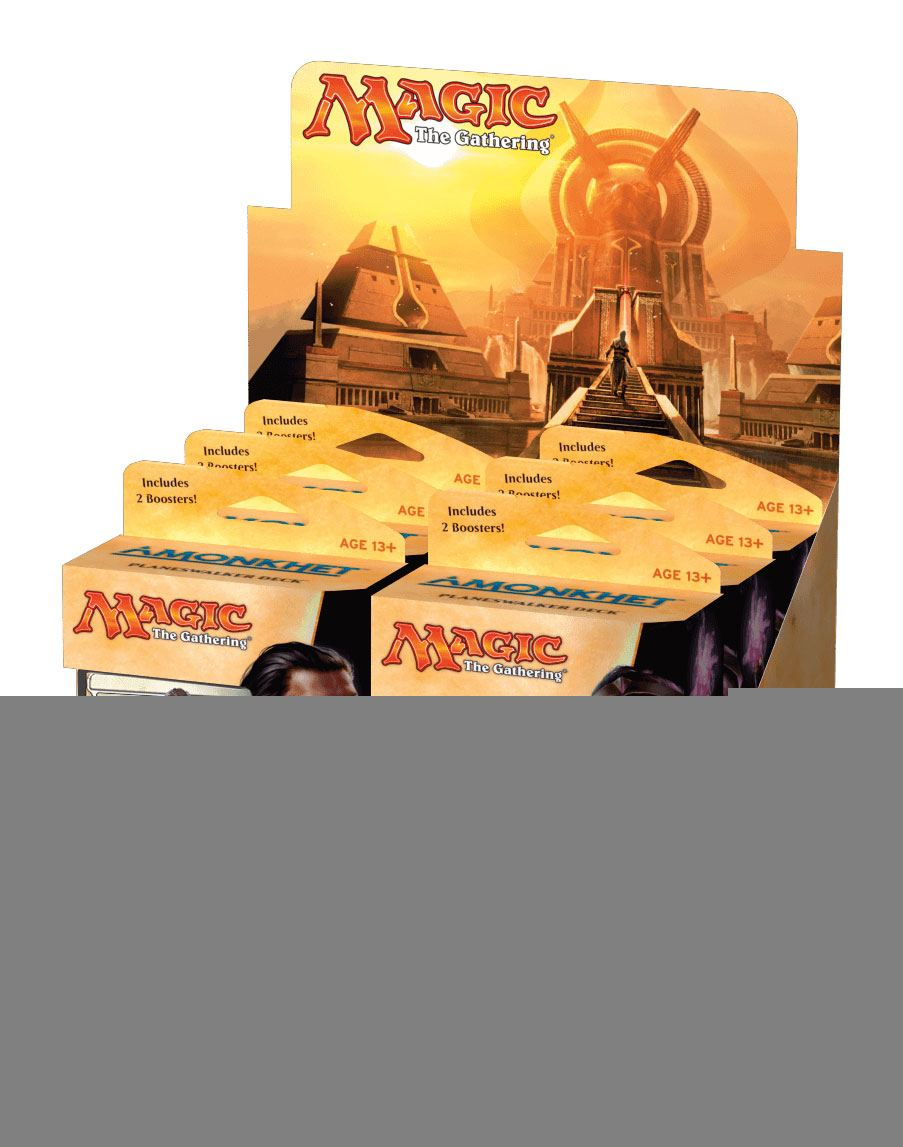 Magic the Gathering Amonkhet Planeswalker Decks Display (6) english