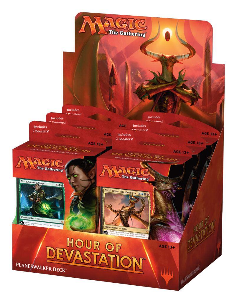 Magic the Gathering Hour of Devastation Planeswalker Decks Display (6) english