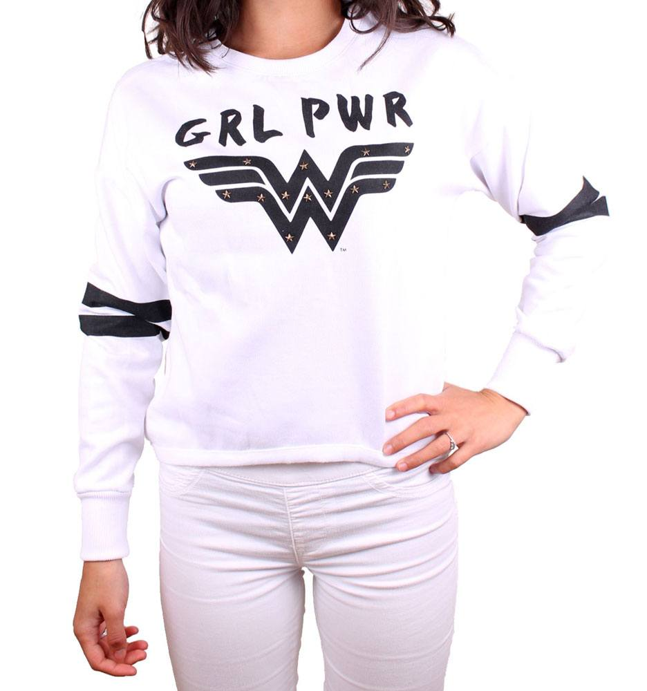 Wonder Woman Ladies Crewneck Sweatshirt Grl Pwr Size M