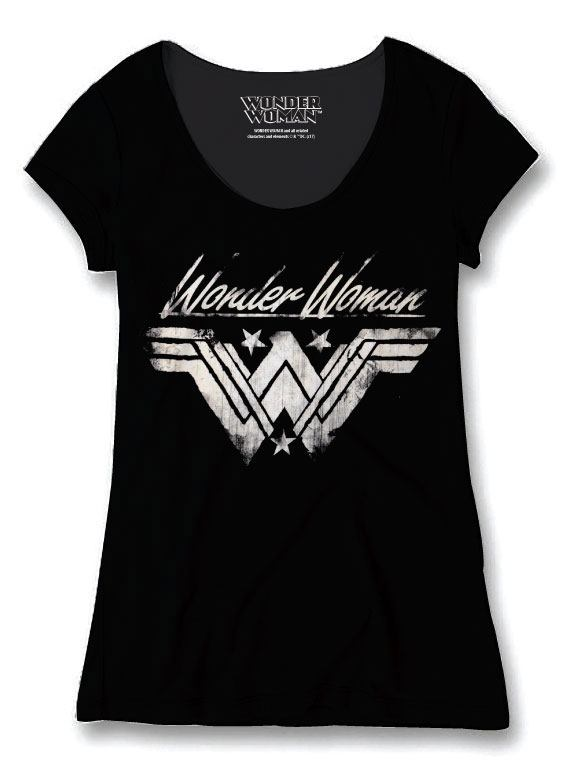 Wonder Woman Ladies T-Shirt Grunge Size L