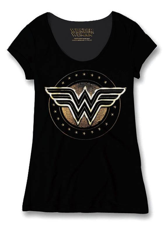 Wonder Woman Ladies T-Shirt W Logo Size XL