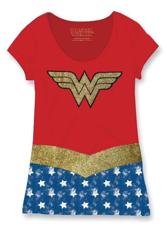 Wonder Woman Ladies Sublimation T-Shirt Costume Size M