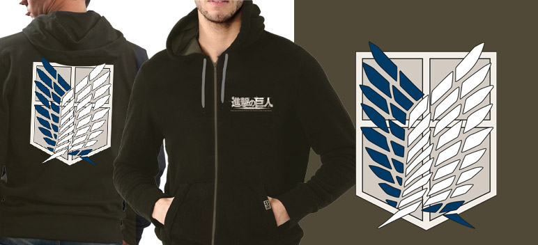 Attack on Titan Hooded Sweater Scout Size M