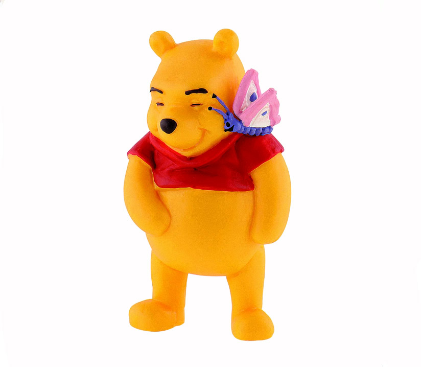 Winnie The Pooh Figure Winnie The Pooh with Butterfly 6 cm