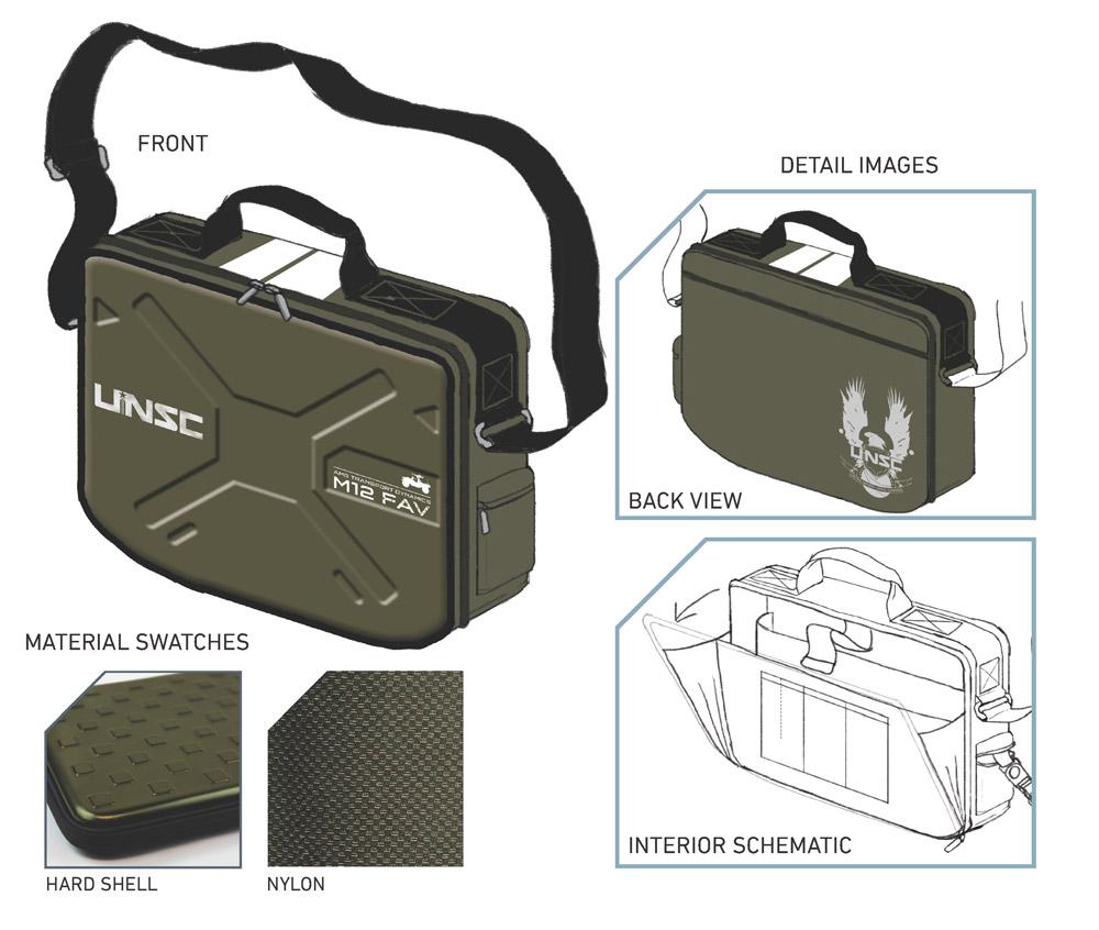 Halo 4 Messenger Bag UNSC Warthog