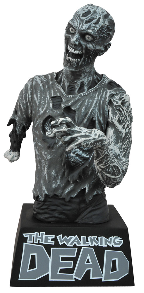 The Walking Dead Bust Bank Zombie Black & White 20 cm
