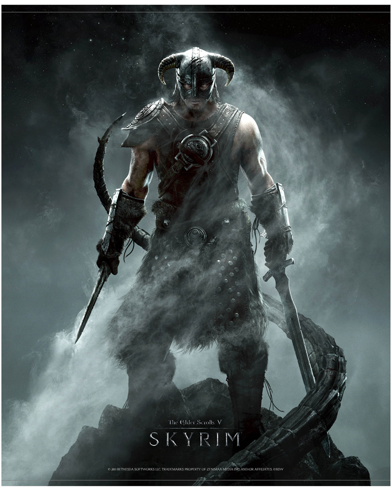 The Elder Scrolls V Skyrim Wallscroll Dragonborn 100 x 77 cm