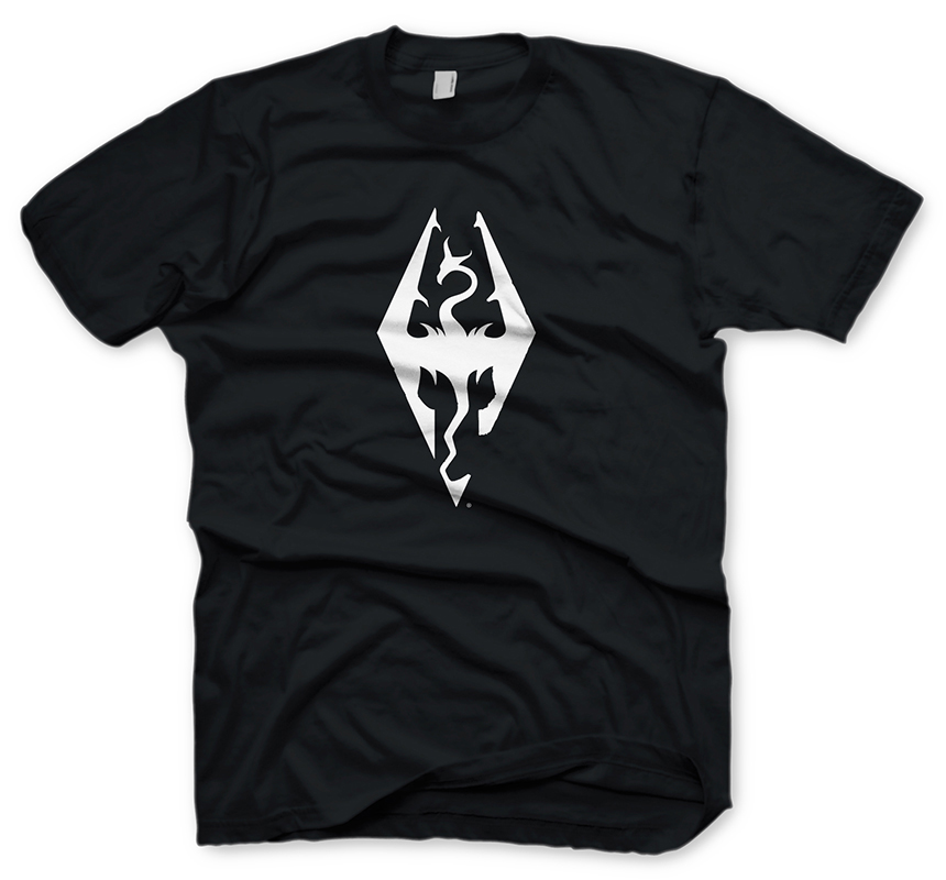 The Elder Scrolls V Skyrim T-Shirt Dragon Symbol Size S