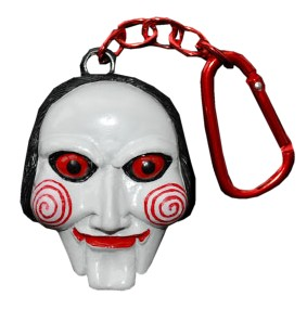 Saw Jigsaw Puppet Talking Clip-It Keychain