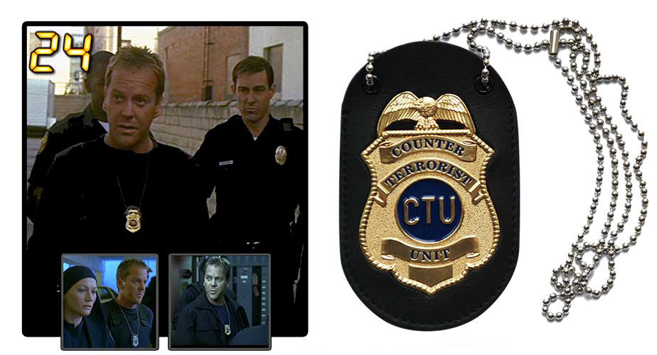 24 - Live Another Day Jack Bauer CTU Badge & Neck Chain Set