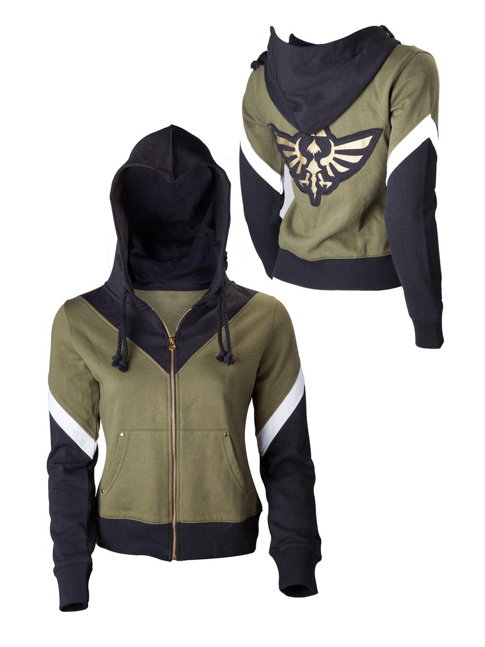 The Legend of Zelda Ladies Hooded Sweater Zelda Size L