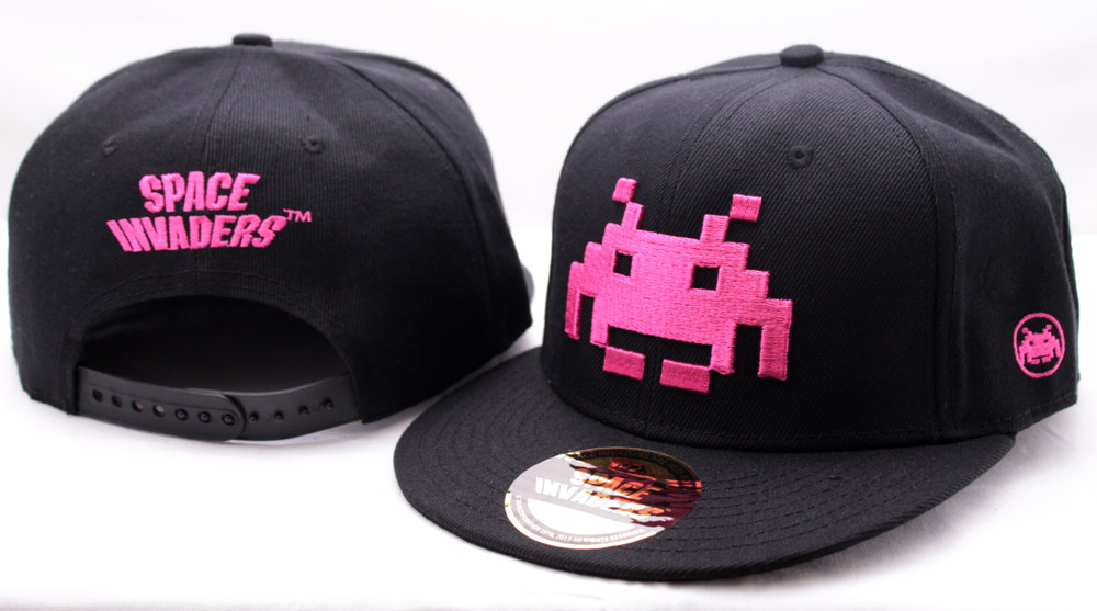 Space Invaders Adjustable Cap Pink Logo