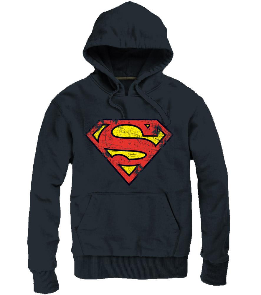 Superman Hooded Sweater Logo black Size L