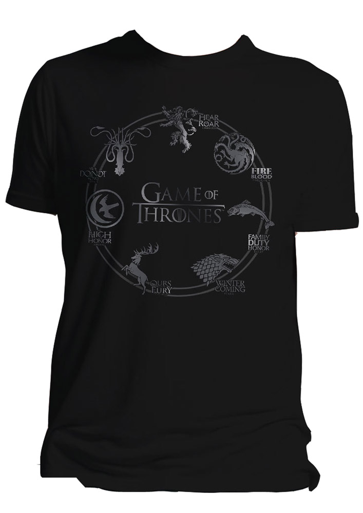 Game of Thrones T-Shirt Houses Size M