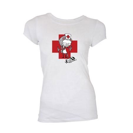 Lenore Ladies T-Shirt Nurse Lenore Size M