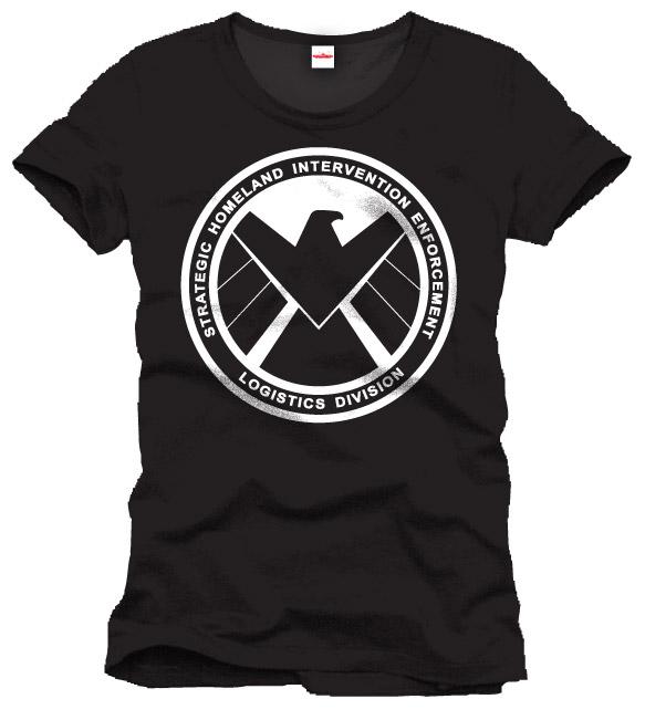 Captain America T-Shirt Shield Emblem Size S