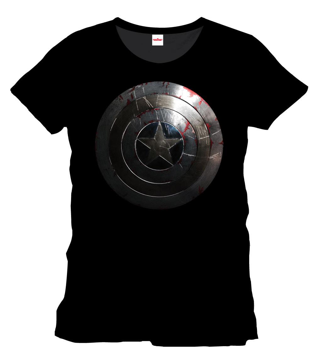 Captain America T-Shirt Silver Shield Size L