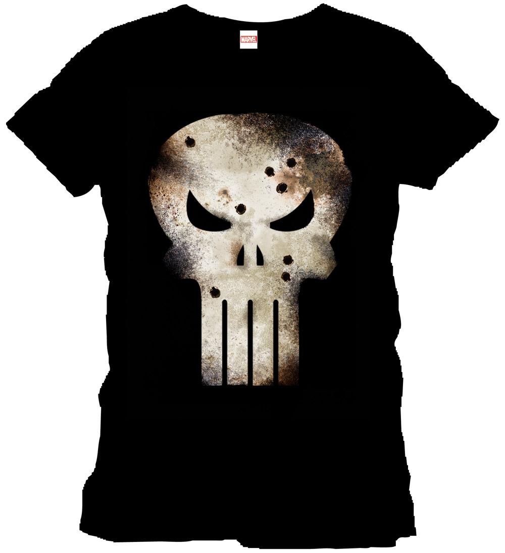Punisher T-Shirt Gunshot Skull Size L