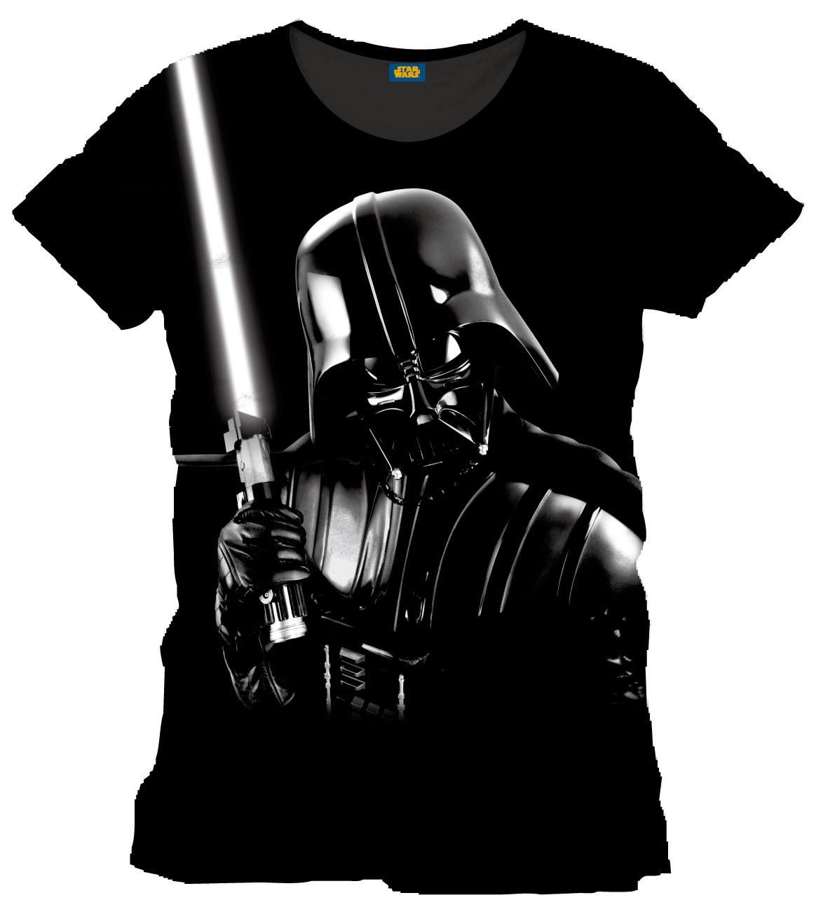 Star Wars T-Shirt Silver Darth Vader Size L