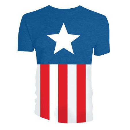 Marvel T-Shirt Captain America Uniform Size XXL