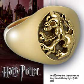 Harry Potter Ring Gryffindor House Silver (gold plated) Size 12
