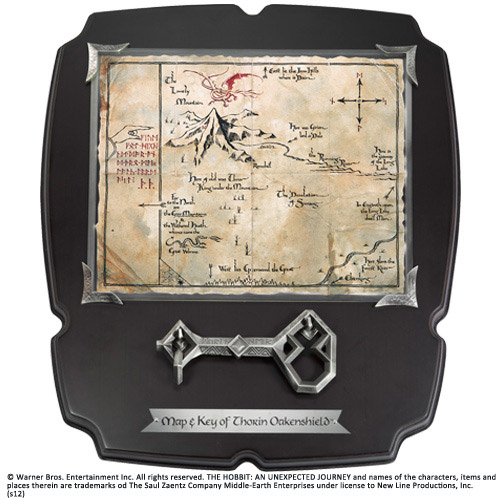 The Hobbit Replica 1/1 Thorin´s Oakenshield´s Map & Key Deluxe