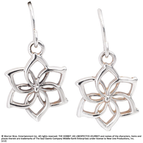 The Hobbit An Unexpected Journey Earrings Galadriel´s Flower (Sterling Silver)