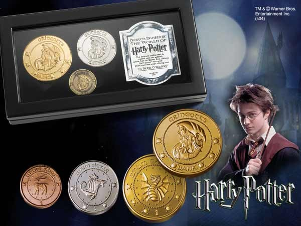 Harry Potter Replica The Gringotts Bank Coin Collection